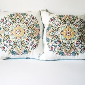 Threshold for Target Medallion Embroidered Pillows